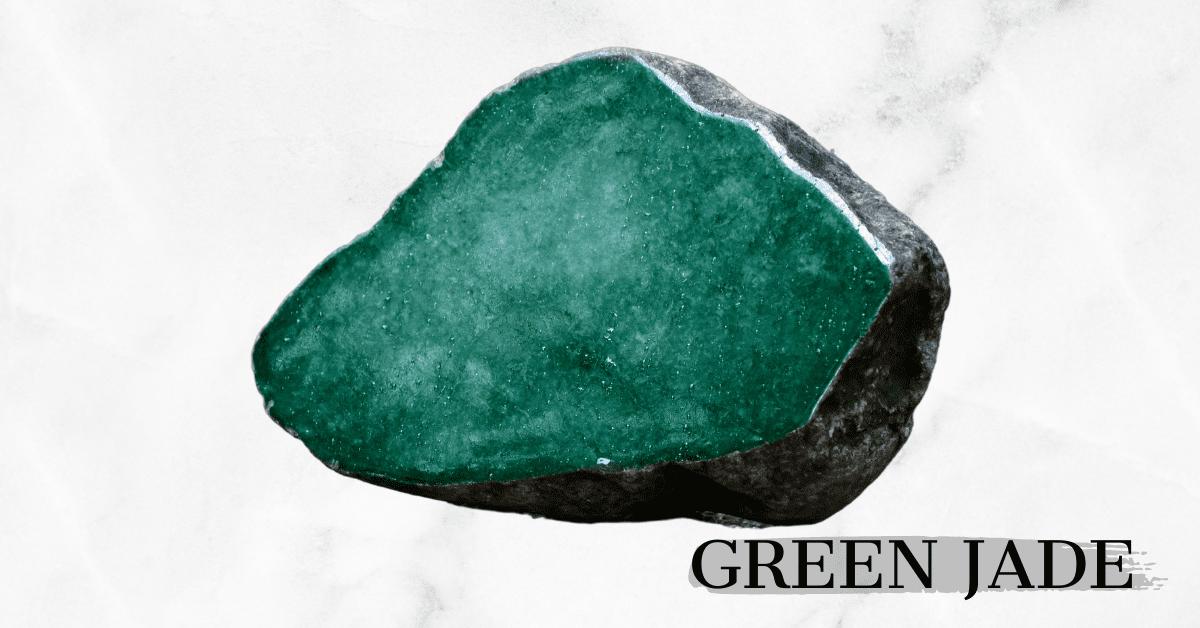 Raw Green Jade stone