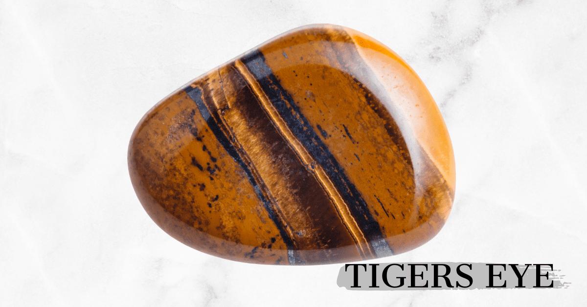 Tigers Eye tumbled stone