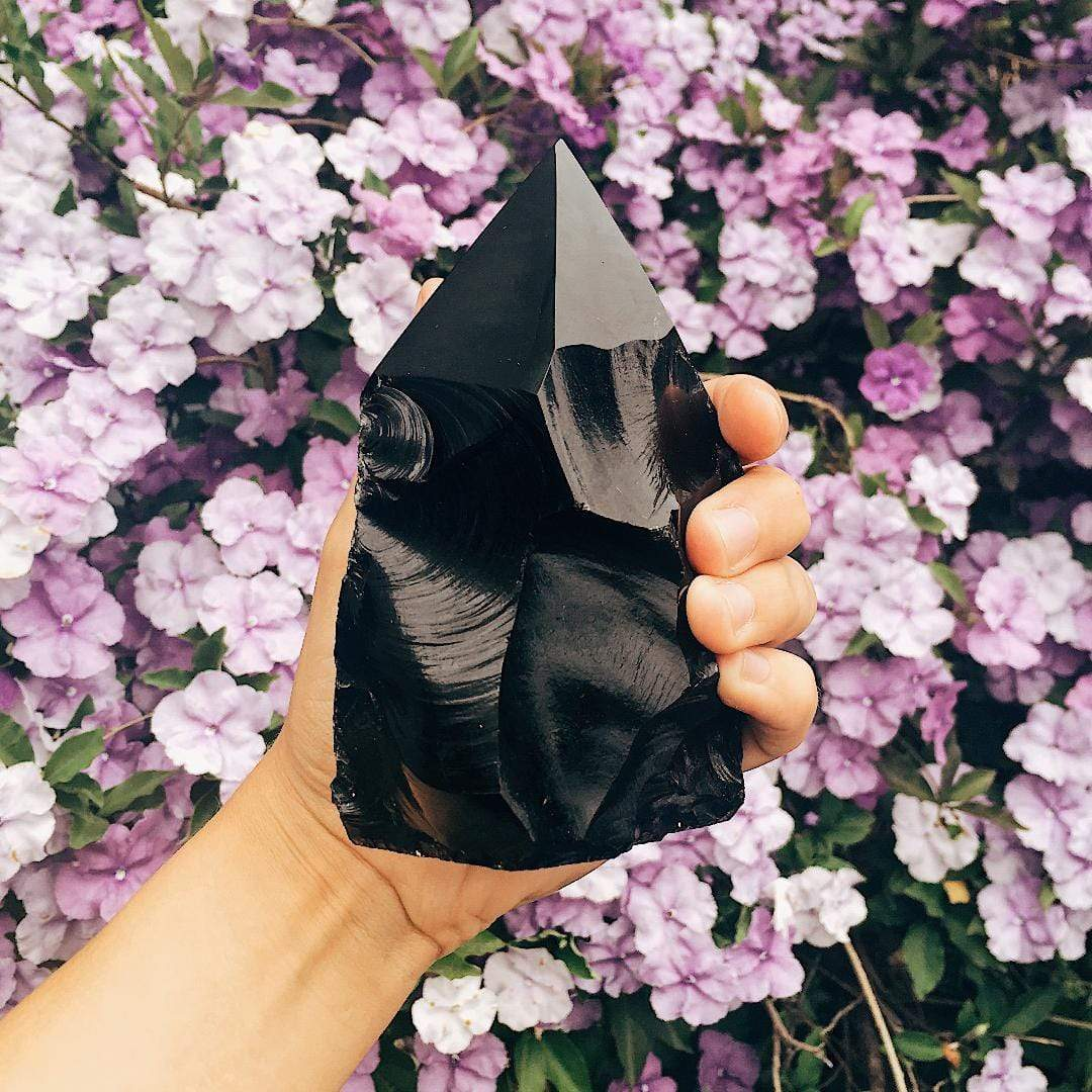 Obsidian crystals for protection